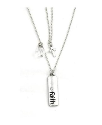 Charm Necklace, Faith Cross  -