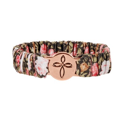 Cross Scrunch Bracelet  -