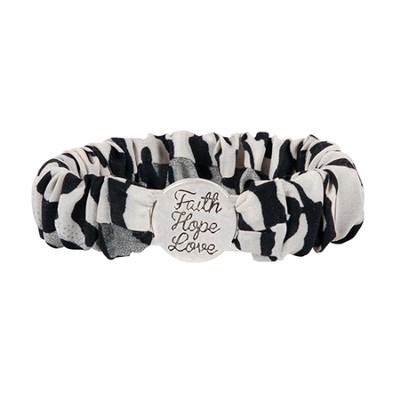 Faith Hope & Love Scrunch Bracelet  -