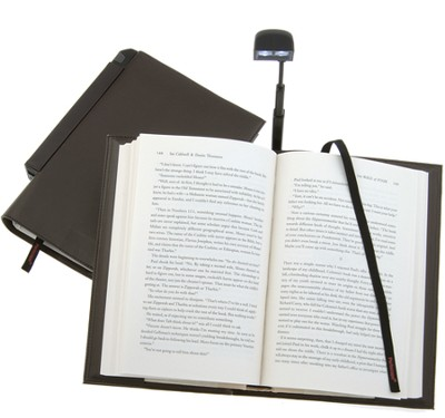 Periscope(R) Bookcover with Light, Paperback, Brown   -