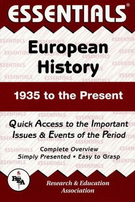 European History 1935 to Present  -