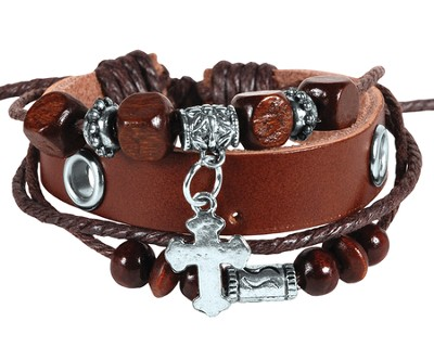 Cross and Beads Bracelet  -