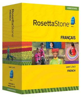 Rosetta Stone French Level 1,2 & 3 Set with Audio Companion Homeschool Edition, Version 3  -