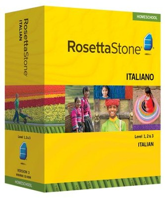 Rosetta Stone Italian Level 1,2 & 3 Set with Audio Companion Homeschool Edition, Version 3  -
