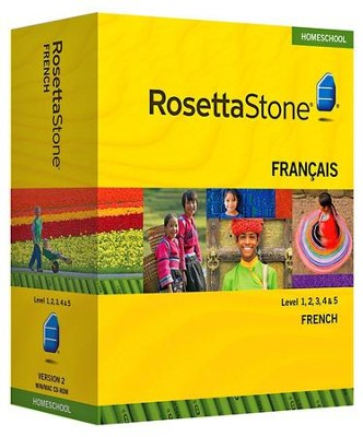 Rosetta Stone French Level 1 with Audio Companion Homeschool Edition, Version 3  -