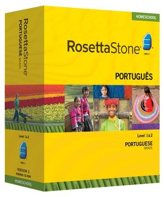 Rosetta Stone Brazilian Portuguese Level 1 & 2 Set with Audio  Companion Homeschool Edition, Version 3  -
