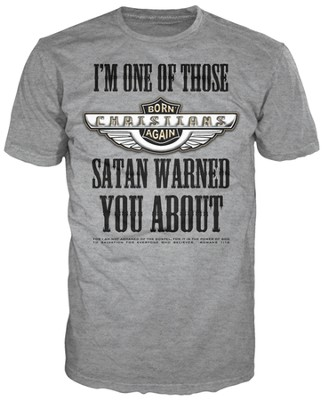 Satan Warned Shirt, Gray, XX Large  -