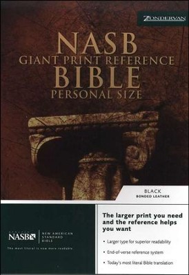 NAS Giant Print Reference Bible, Personal Size, Bonded leather, Black - Slightly Imperfect  -