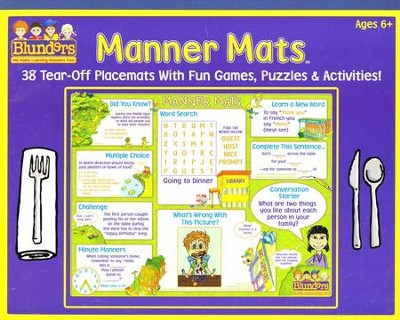 Manner Mats: 38 Tear-Off Placemats With Fun Games, Puzzles & Activities  -