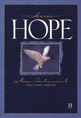 KJV Here's Hope New Testament, paperback, case of 48  -