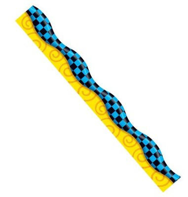New Wave Checks - Blue & Black Terrific Trimmers (39 Feet)  -