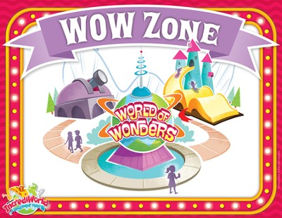 IncrediWorld Amazement Park Bible Lesson Rotation Sign   -