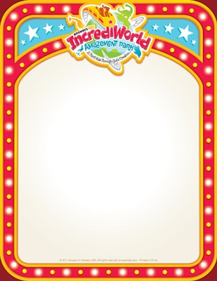 IncrediWorld Amazement Park VBS Promotional Fliers (Pack of 10)  -