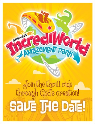 IncrediWorld Amazement Park VBS Save the Date Postcards (Pack of 40)  -