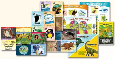 IncrediWorld Amazement Park VBS Toddler Illustration Posters (Set of 10)  -