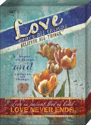 Love Bears All Things Canvas  -