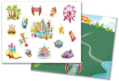 IncrediWorld Amazement Park VBS Sticker Sheets with Picture (Pack of 10)  -