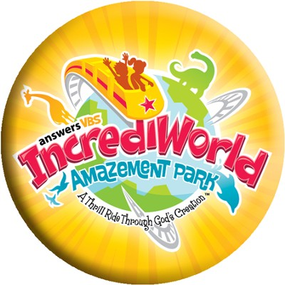IncrediWorld Amazement Park VBS Logo Buttons (Pack of 10)  -