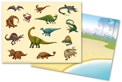 IncrediWorld Amazement Park Dinosaur Sticker Sheets with Picture (Pack of 10)  -