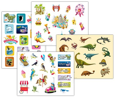 IncrediWorld Amazement Park VBS Variety Sticker Pack (4 Sheets, 3 of Each Sticker Sheet)  -