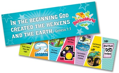 IncrediWorld Amazement Park VBS Days of Creation Bookmarks (NKJV Version; Pack of 10)  -