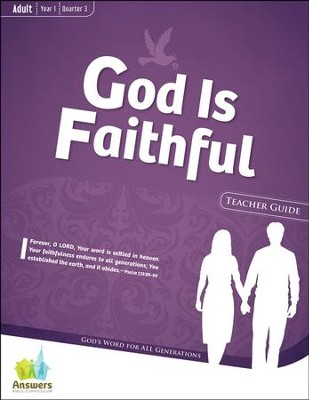 Answers Bible Curriculum: God Is Faithful Adult Teacher Guide with DVD-ROM Year 1 Quarter 3  -
