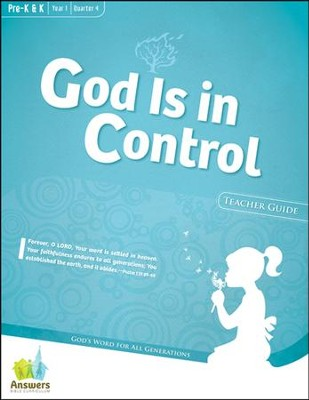 Answers Bible Curriculum: God Is in Control Preschool Teacher Guide with DVD-ROM Year 1 Quarter 4  -