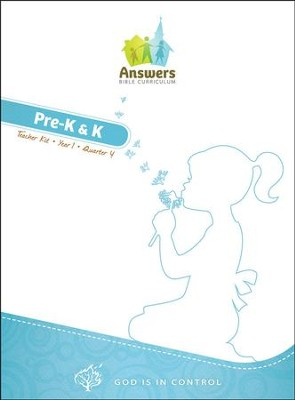 Answers Bible Curriculum: God Is in Control Preschool Teacher's Kit Year 1 Quarter 4  -