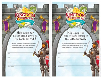 Kingdom Chronicles Volunteer Recruitment fliers (pack of 20)  -