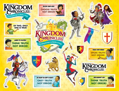 Kingdom Chronicles Logo/Daily Phrase sticker sheet (pack of 10)  -
