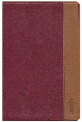 NIV Quest Study Bible, Burgundy/Tan Duo-tone  1984  -