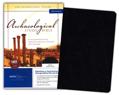 NIV Archaeological Study Bible, Bonded Leather Black 1984, Case of 6  -