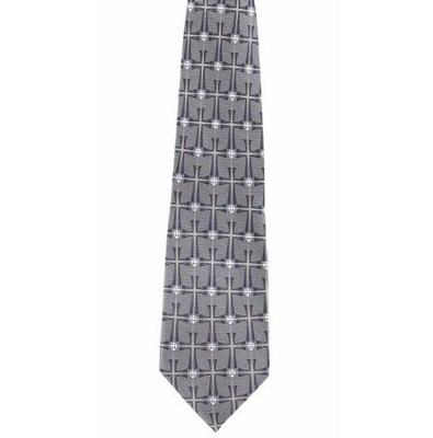 Crossover Tie, Blue and Gray   -