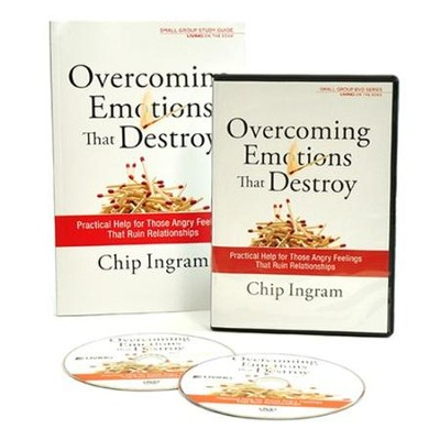 Overcoming Emotions That Destroy Group Starter Kit (1 DVD Set & 5 Study Guides)  -     By: Chip Ingram