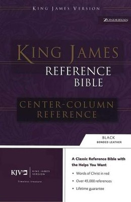 KJV Reference, Imitation Leather Black   -
