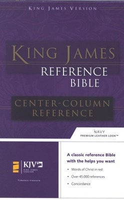 KJV Reference, Imitation Leather Navy Blue   -