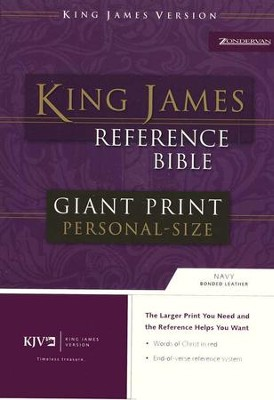 KJV Giant Print Reference Personal Size, bonded navy  -