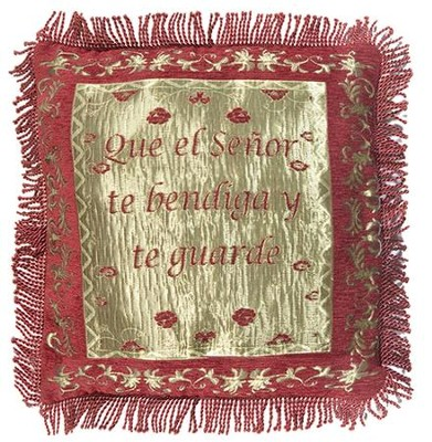 Blessing Pillow Cover, Spanish  -