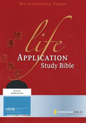 NIV Life Application Study Bible, Revised, Bonded leather, black 1984 - Imperfectly Imprinted Bibles  -