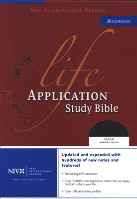 NIV (1984) Life Application Study Bible, Revised--bonded leather, black, Case of 12  -