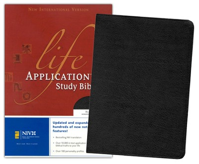 NIV Life Application Study Bible, Revised, Bonded leather, black--indexed - Slightly Imperfect  -