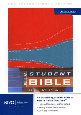 NIV Student Compact Edition, orange/teal Duo Tone  1984  -