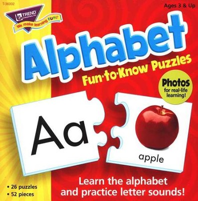 Alphabet Fun-to-Know Puzzle    -