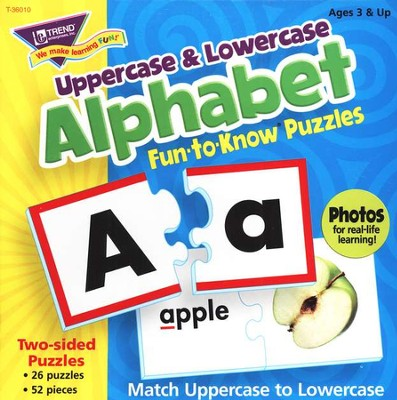 Alphabet Upper & Lowercase Fun-to-Know Puzzles   -