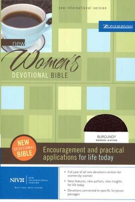 NIV New Women's Devotional Bible, Burgundy Bonded Leather   1984  -