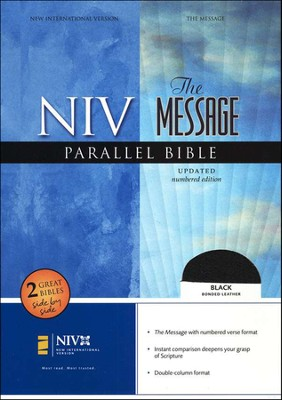 NIV/The Message Parallel Bible, Bonded leather, black   -