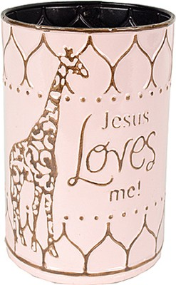 Jesus Loves Me Container, Pink  -