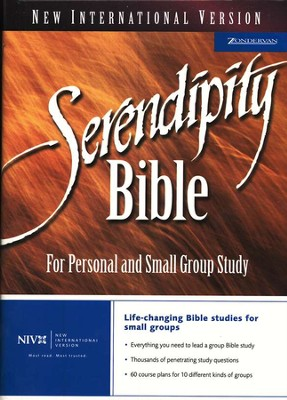 NIV Serendipity Bible, Hardcover - Slightly Imperfect   -