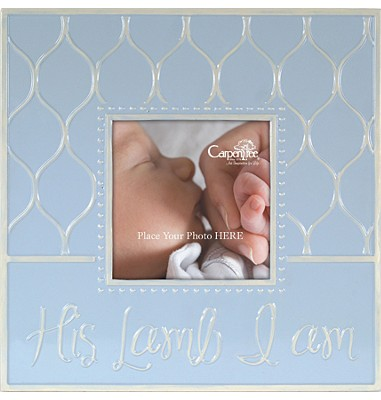 His Lamb I Am Photo Frame, Blue  -