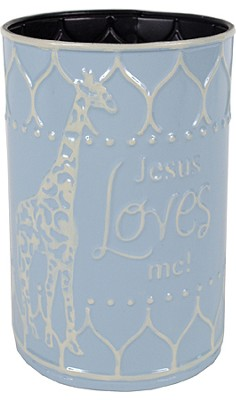 Jesus Loves Me Container, Blue  -